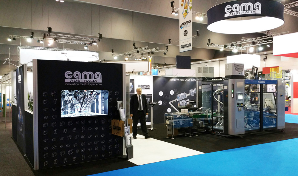 Exhibition Displays Australia Pty Ltd : Cama group and the break though generation machines in