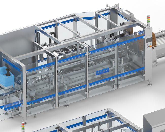 Sinergy of Cama Delta Robots and machines for flowpacked products