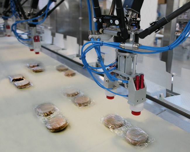 Packaging Line for frozen meat hamburgers